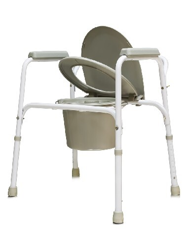 Купить Кресло-туалет стальное со спинкой регулируемое по высоте amcb6803 цена