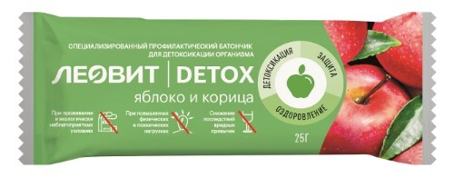 Купить Detox батончик детоксикационный с яблоком и корицей 25,0 цена