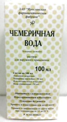 Купить Чемеричная вода 100мл флак полимер р-р д/наруж прим/инд/уп/ярославская фф цена