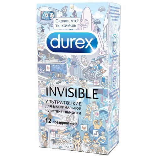 Презерватив invisible n12 doodle