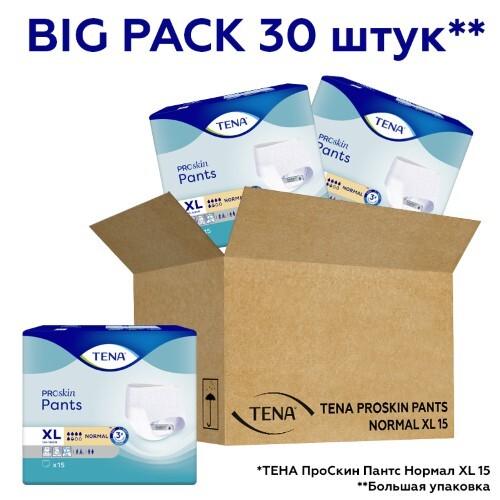 Купить Big pack тена подгузники-трусы д/взрослых proskin pants normal n30, xl цена