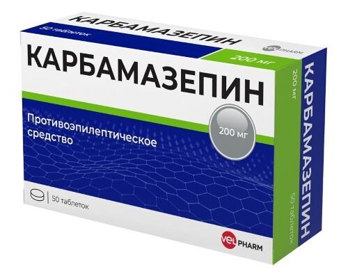 Купить КАРБАМАЗЕПИН 0,2 N50 ТАБЛ/ВЕЛФАРМ цена