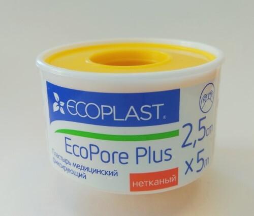Купить Набор ecoplast пластырь мед фикс неткан ecopore plus 2,5x5 /пласт катуш 2 уп по цене 1! цена