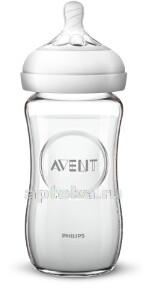 Купить Avent natural бутылочка для кормления 240мл стекло scf053/17 цена