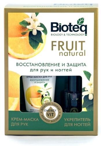 Купить BIOTEQ FRUIT NATURAL НАБОР N3 ВОССТАНОВЛЕНИЕ И ЗАЩИТА/КРЕМ-МАСКА ДЛЯ РУК 50МЛ+УКРЕПИТЕЛЬ ДЛЯ НОГТЕЙ 3В1 11МЛ/ цена