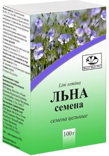 Купить ЛЬНА СЕМЕНА 100,0 /ФИТО-БОТ/ цена