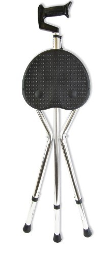 Купить Трость amcs37 металлическая телескопическая со складным трехопорным стулом цена