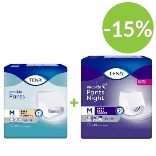 Купить Pants normal набор тена подгузники-трусы день  normal №10  и ночь super n10 (размер m) по специальной цене цена