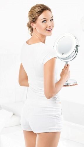 Купить Bs55 косметическое зеркало с подсветкой/диаметр 13см цена