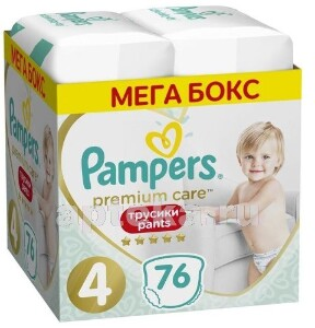 Купить PAMPERS PREMIUM CARE PANTS ТРУСИКИ РАЗМЕР 4 N76 цена