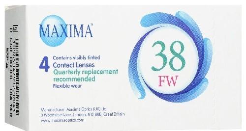 Купить MAXIMA 38 FW КОНТАКТНЫЕ ЛИНЗЫ ПЛАНОВОЙ ЗАМЕНЫ /-4,00/ N4 цена