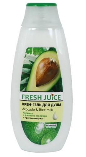 Купить Крем-гель для душа авокадо и рисовое молочко 400мл цена