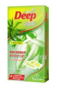 Купить Deep depil восковые полоски для депиляции нормальной кожи с алоэ вера n20 цена