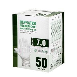 Купить Перчатки медицинские хирургические-sf латексные стерильные неопудренные текстурированные n50 пар/размер 7,0 цена