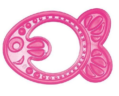 Прорезыватель мягкий рыбка розовая