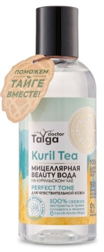 Купить Doctor taiga мицеллярная вода для чувствительной кожи beauty 170мл цена