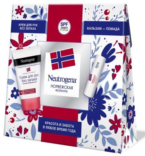 Купить Норвежская формула крем для рук без запаха 50мл+бальзам-помада 4,8г цена