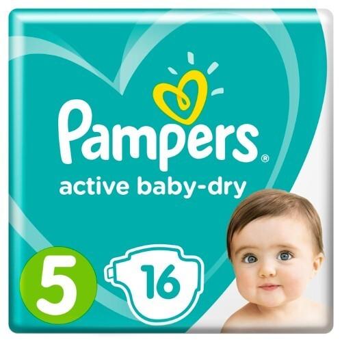 Купить PAMPERS ACTIVE BABY-DRY ПОДГУЗНИКИ РАЗМЕР 5 N16 цена