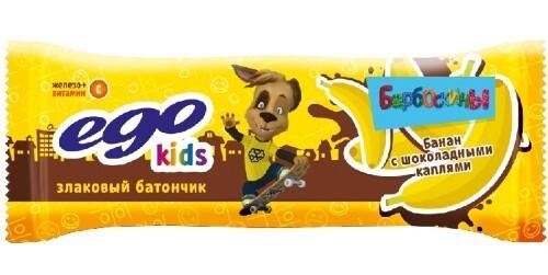 Батончик-мюсли эго кидс банан с шоколадными каплями с витамином с