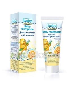 Купить Детская гелевая зубная паста 2-10лет 75мл/апельсин цена