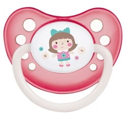 Купить Соска-пустышка силиконовая toys 6-18 розовый цена