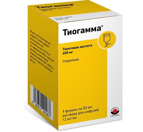 Купить Тиогамма 0,012/мл 50мл n1 флак р-р д/инф цена