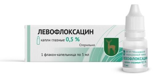 Купить ЛЕВОФЛОКСАЦИН 0,5% 5МЛ N1 ФЛАК/КАП КАПЛИ ГЛАЗНЫЕ цена