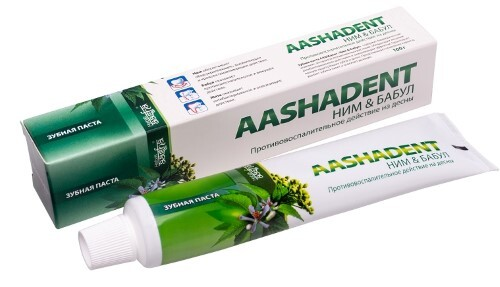 Купить Зубная паста ним и бабул aashadent 100,0 цена