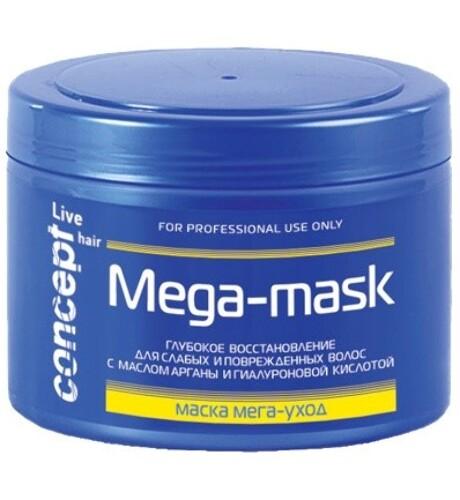 Купить Live hair маска мега-уход для слабых и поврежденных волос 500мл цена