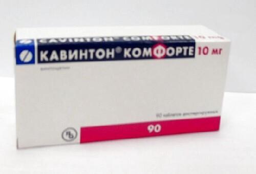 Купить Кавинтон комфорте 0,01 n90 табл дисперг цена