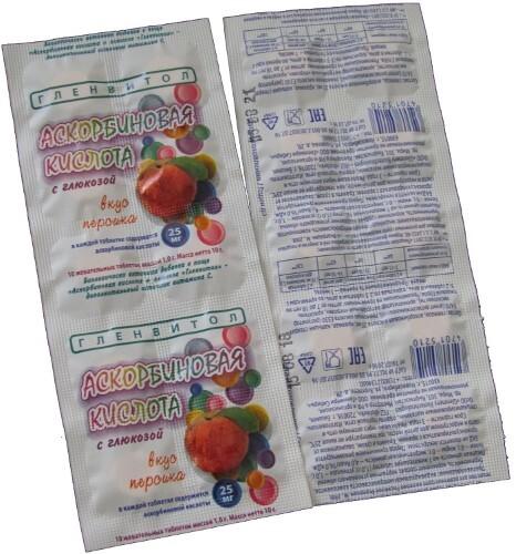 Купить Аскорбин кислота+ глюкоза со вкусом персика цена
