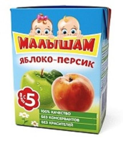 Купить Нектар из яблок и персиков неосветленный 200мл цена