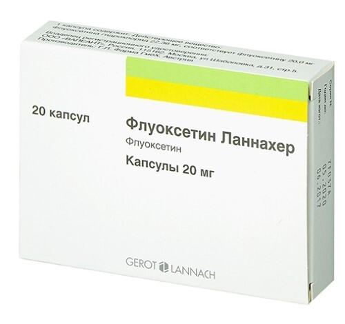 Купить ФЛУОКСЕТИН ЛАННАХЕР 0,02 N20 КАПС цена