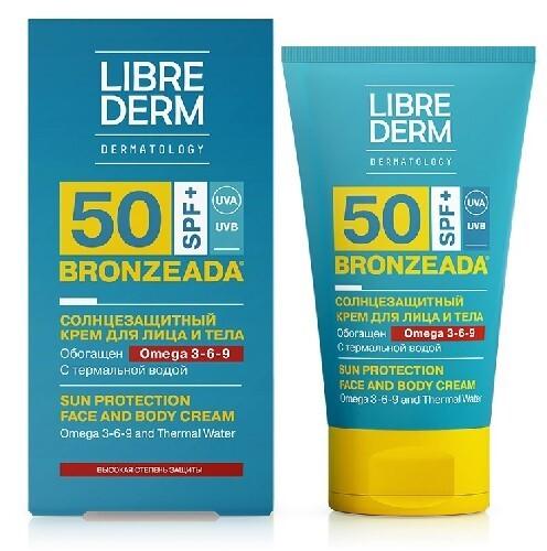 Купить Bronzeada солнцезащитный крем spf50 с омега 3-6-9 и термальной водой 150мл цена
