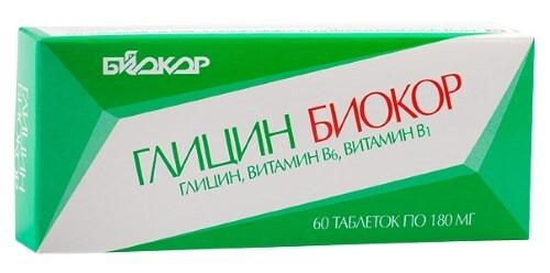 Купить Глицин биокор с витаминами в1 и в6 цена