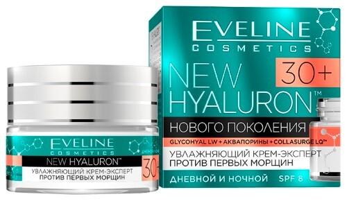 Купить Eveline new hyaluron крем-эксперт против первых морщин 30+ 50мл цена