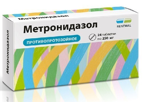 Купить Метронидазол 0,25 n24 табл инд/уп цена