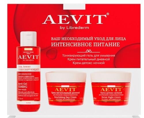 Купить Vitamins aevit набор аевит интенсивное питание плюс для ухода за лицом цена