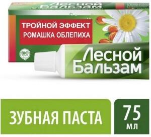 Купить Зубная паста тройной эффект с ромашкой 75мл цена