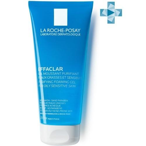 Купить Effaclar gel очищающий пенящийся гель для жирной чувствительной кожи 200мл цена