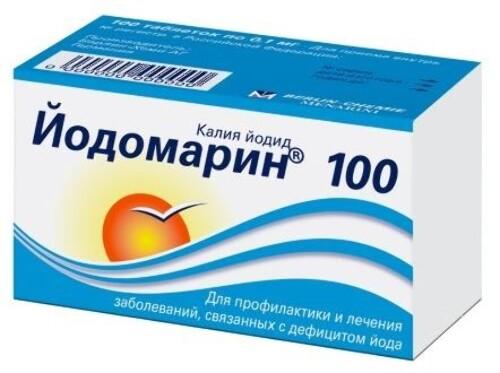 Купить ЙОДОМАРИН 100 N100 ТАБЛ цена