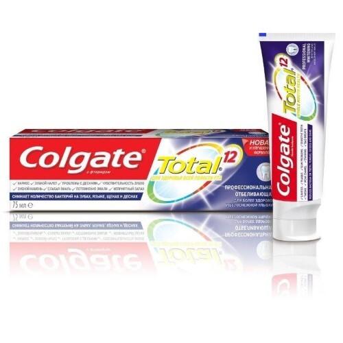 Купить Total 12 профессиональная отбеливающая зубная паста 75мл цена