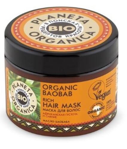 Купить Organic baobab маска для волос густая 300мл цена