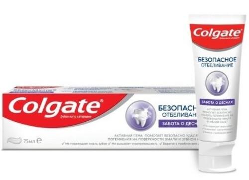 Купить Безопасное отбеливание забота о деснах зубная паста 75мл цена