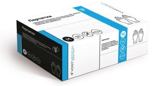 Купить Перчатки смотровые нестерильные vogt medical латексные неопудренные текстурированные особопрочные удлиненные m n25 пар цена