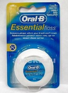 Зубная нить essential floss нeвощеная 50м
