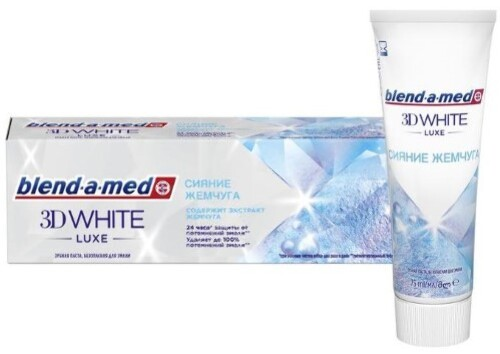 Купить BLEND-A-MED ЗУБНАЯ ПАСТА 3D WHITE LUXE СИЯНИЕ ЖЕМЧУГА 75МЛ цена