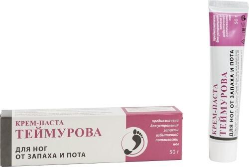 Купить Теймурова крем-паста для ног от запаха и пота 50,0 цена