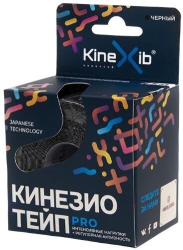 Бинт нестерильный адгезивный восстанавливающий kinexib pro черный 5смx5м /кинезио тейп/