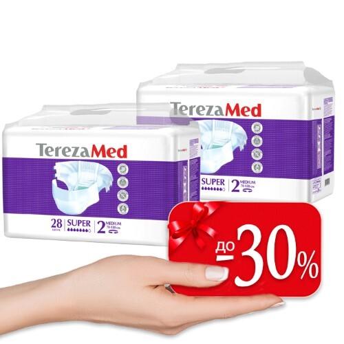 Купить Набор terezamed подгузники д/взр super n28 /medium n 2/ 2 уп по специальной цене цена